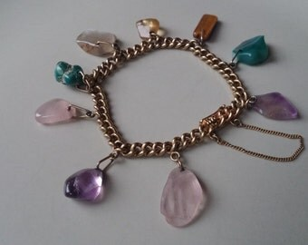 Vintage bracelet with gemstones