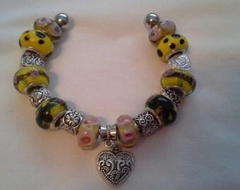 Lampwork Bead Bracelet  B  113