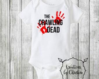 SALE - Crawling Dead Bodysuit, Walking Dead