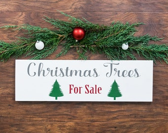 Christmas Decorations- Farmhouse Christmas Decor- Christmas Trees For Sale Sign- Farmhouse Decor- Christmas Tree Decor- Rustic Christmas