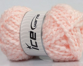 Light Pink Boucle Knitting Yarn Knit Crochet Yarn