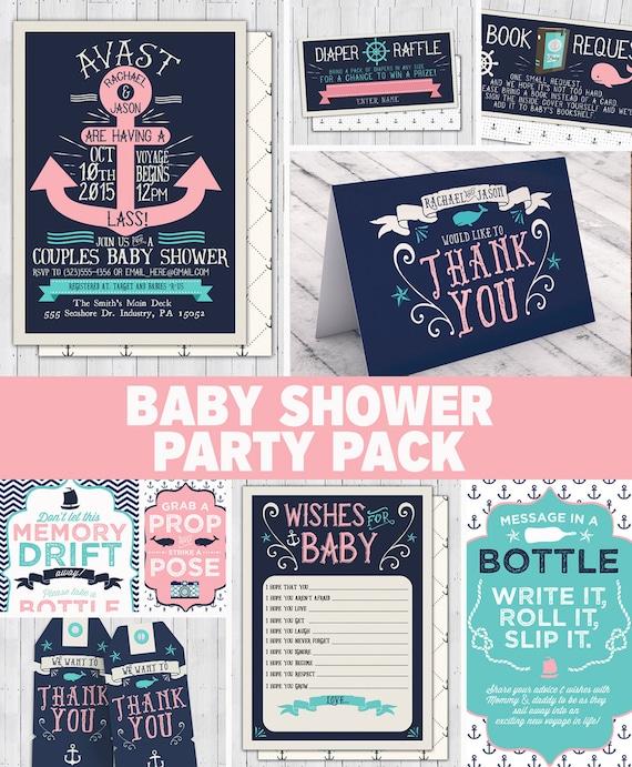 Nautical baby shower invitation ahoy its a boy diy coed il570xn filmwisefo