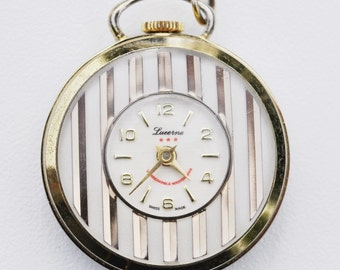 Beautiful Vintage Lucerne Pendant Watch, Swiss Made