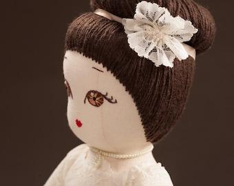Bride (Daniella) - Handamde Collection Cloth Dolls by Manolitas
