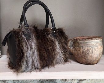 Made in italy fur bag small