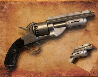 Jayne Cobb's gun on Firefly and Serenity, also perfect Steampunk and Diesel Punk prop.