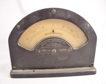 1890s Weston Electric Inst. Co. Mil-Ammeter Model 264