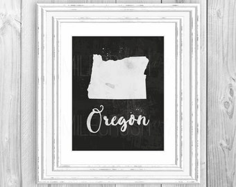 Custom State Printable Custom Printable Oregon State Print Home State Wall Art Housewarming Gift State Love Print State Decor