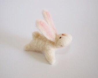 Needle Felted Bunny - Needle Felted Rabbit - Felt Bunny - Felt Rabbit