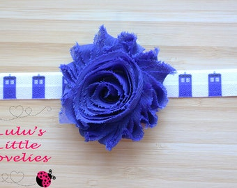Tardis Headband, Dr Who Headband, Birthday Party Headband, Gift for girl, Comic FOE, Comic Headband, Unique Hair, Nerd Gift, Time Travel