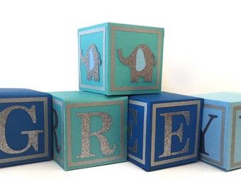 Alphabet Blocks - Baby Shower Centerpiece - Nursery Blocks - Baby Blocks
