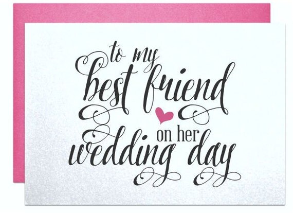 Good Wedding Gifts For Friends: Cards For Best Friend Wedding Bridal Shower Gifts Cards Bestie