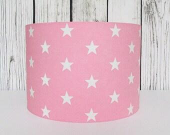 Pink Stars Lampshade Nursery Girls