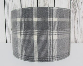 Grey Tartan Lampshade by Porter and Stone