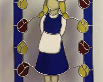Dutch Girl Stained Glass