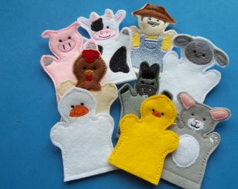 Old  MacDonald Finger Puppets Storytime, Classic .Nursery Rhyme. Old MacDonald Farm . Toddler . Learning .