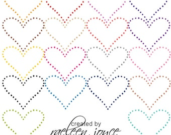HEARTS, Heart Shaped Dots, Heart Clipart, INSTANT DOWNLOAD