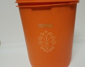 Medium Vintage Orange Tupperware Canister! Mint Condition!
