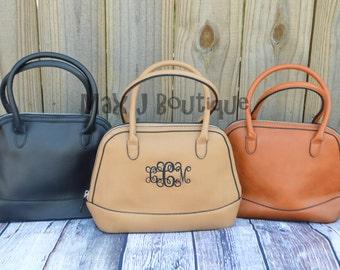 Monogrammed Purse  - Personalized Handbag - Embroidered Bag