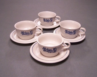 "Pfaltzgraff ""Yorktowne"" Cups and Saucers"