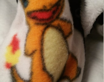 Youth 7.25 inch sole length,  Charmander slippers, Pokémon slippers, fleece slippers,  snap on slippers