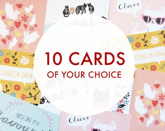Postcard set: multipack of 10 postcards of your choice!