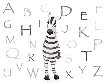 ABC Alphabet Nursery Art,Alphabet Decor,Abc Girls Room Art,Abc Kids,Alphabet Girls Art,Abc Baby Girl,ABC modern Art,Alphabet Modern Nursery