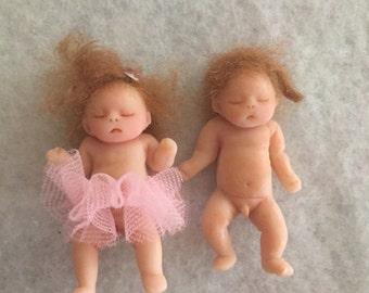 Ooak clay twins