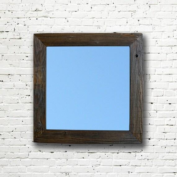 Reclaimed Wood Mirror Rustic Mirror Eco Friendly Framed