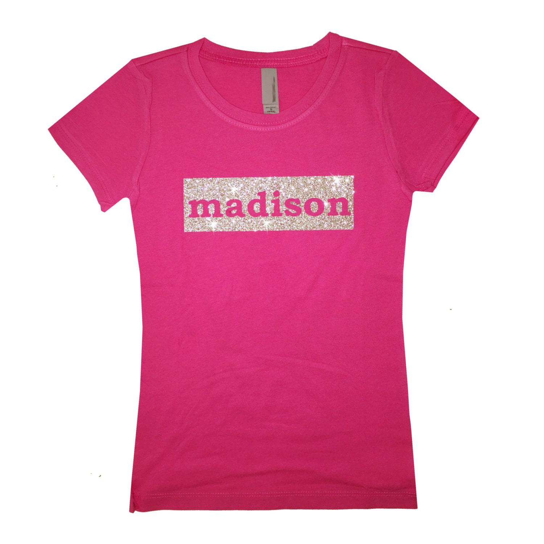 Custom Girl 39 S T Shirt Birthday Girl T Shirt Glitter Kids
