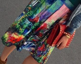 High Waist Old School Skirt
