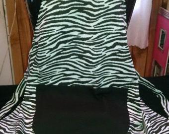 Black & White Zebra Print Apron