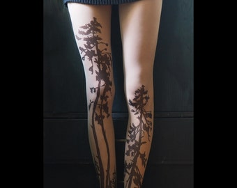 Forest tattoo tights