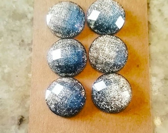 12mm Blue Grey Ombre Cabochons