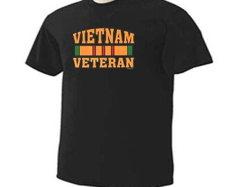 Vietnam Veteran Service Ribbon Military Vet War Hero T-Shirt