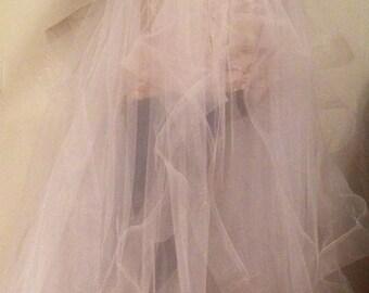 Tulle wedding skirt, tulle overskirt, wedding skirt,  detachable wedding skirt, detachable tulle skirt, wedding dress.