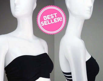 Strapless Bralette, Soft Bandeau Bra, Bustier, Best Strapless Bra - Black