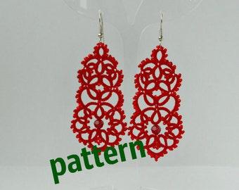 Tatting Pattern Lace  Earrings PDF Pattern jewelry