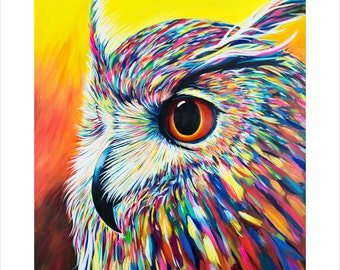 Spectral Owl - Fine Art Print