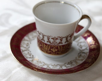 Stunning Winterling Demitasse Cup And Saucer