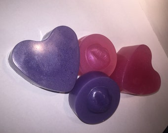 Valentines Shaped Soaps Hearts & Kisses