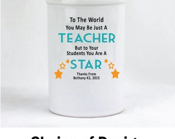 Personalised Teacher Quote Pen Holder