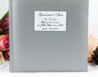 Personalised christening/baptism Photo Album -  200/300