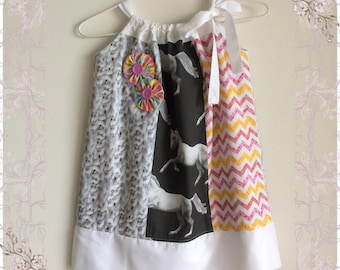 Colourful Summer Pillowcase Dress Size 4
