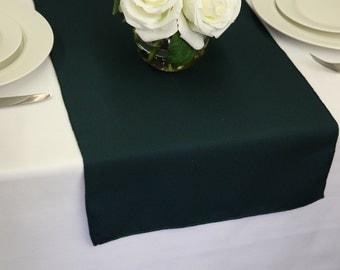 Hunter Green Polyester Table Runner | Wedding Table Runners