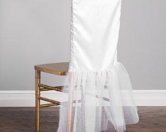 Tutu Chair Cover White | Wedding Decorations