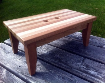 Hardwood Step stool Made With Cherry and Maple