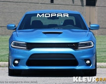 """42"""" x 4.5"""" MOPAR Vinyl Decal Banner Windshield Sticker for your Dodge, Chrysler or Jeep Vehicle - Charger, Challenger, 300, Cherokee"""