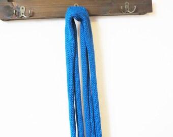 Blue Knit Scarf - Blue Scarf -  Winter Scarf - Blue Winter Scarf - Blue Knit Scarf - Bright Blue Scarf - Warm Scarf