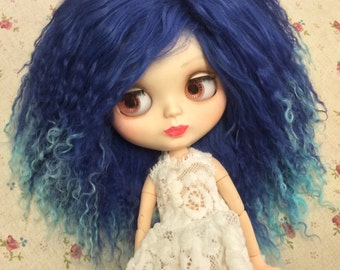 Custom made Blythe doll mohair wig BJD mohair wig SD mohair wig Blythe doll outfit Blythe doll wig